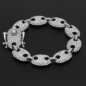 Gold Plated Crystals Hip Hop Bracelet